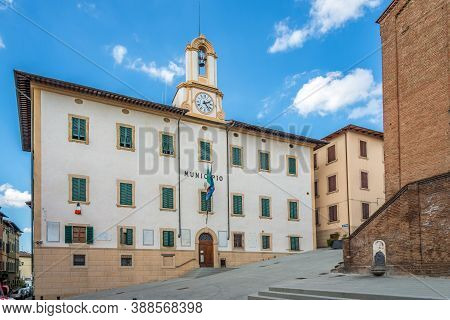 View At The Building Of Town Hall In Castelfiorentino - Italy