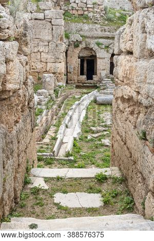 First Roman Waterworks System In Ancient Corinth, Greece