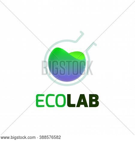 Eco Lab Logo Template, Colorful Vector Graphic Design Element For Environment Business, Ecology Comp
