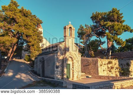 St Ivan And Teodor Chapel Within Dominican Monastery In Town Bol On Island Of Brac, Croatia.
