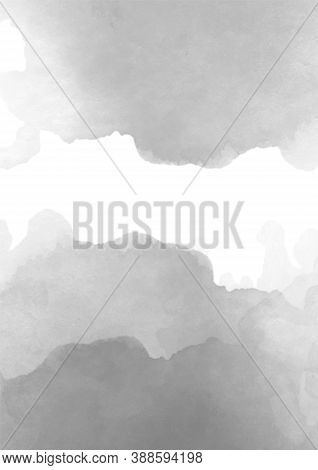Watercolor Template With Black On Light Background. Creative Vector Watercolour Illustration. Vibran