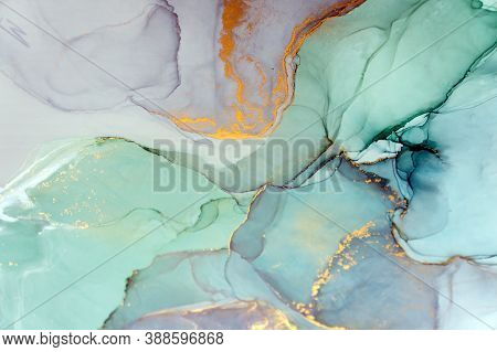 Ink, Paint, Abstract. Closeup Of The Painting. Colorful Abstract Painting Background. Highly-texture