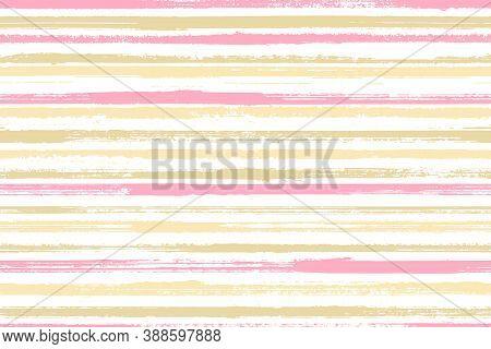 Ink Thin Rough Stripes Vector Seamless Pattern. Cool Interior Wall Decor Design. Retro Geometric Rou