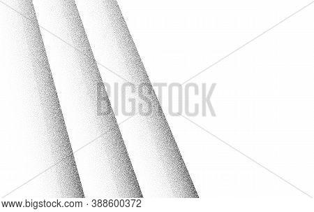 Dotwork Diagonal Stripes Pattern. Black Noise Stipple Dots. Sand Grain Effect. Black Dots Grunge Ban