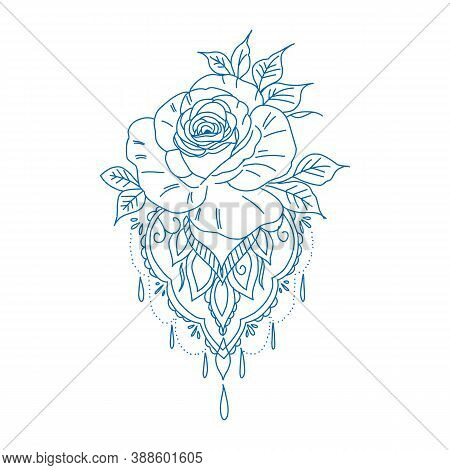 Collection Roses On White Background. Icon Rose. Roses Red, Beige, Purple, Pink, Coral, Yellow, Whit