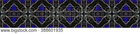 Aztec Rugs. Luminous Neon Seamless Texture. Abstract Batik Design. Repeat Tie Dye Rapport. Ikat Russ
