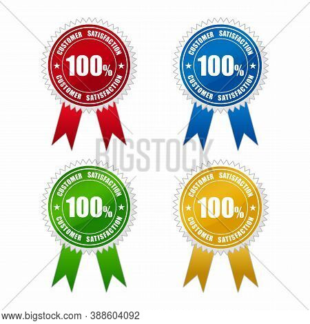 Customer Satisfaction Guaranteed Labels,gold Badges Seal Quality Labels. Sale Medal Badge Premium St