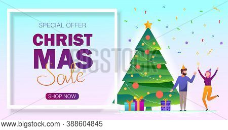 Christmas sale background. Merry Christmas sale card with people vector Illustration. Merry Christmas card vector Illustration.Christmas. Christmas Vector. Christmas Background. Merry Christmas Vector. Merry Christmas banner. Christmas illustrations
