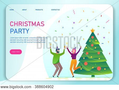 Merry christmas. The company of young people celebrates the new year. Merry Christmas card vector Illustration.Christmas. Christmas Vector. Christmas Background. Merry Christmas Vector. Merry Christmas banner. Christmas illustrations