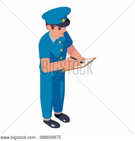 Postman Service Sign Icon. Isometric Of Postman Service Sign Vector Icon For Web Design Isolated On