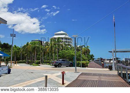 Cairns, Queensland, Australia - 03 Jan 2019: Marina In Cairns City, Queensland, Australia