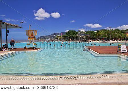 Cairns, Queensland, Australia - 03 Jan 2019: Pool In Cairns City, Queensland, Australia