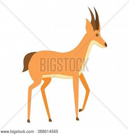 Springbok Gazelle Icon. Cartoon Of Springbok Gazelle Vector Icon For Web Design Isolated On White Ba