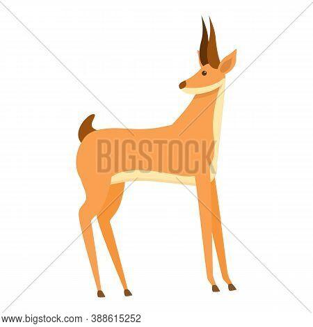 Faune Gazelle Icon. Cartoon Of Faune Gazelle Vector Icon For Web Design Isolated On White Background