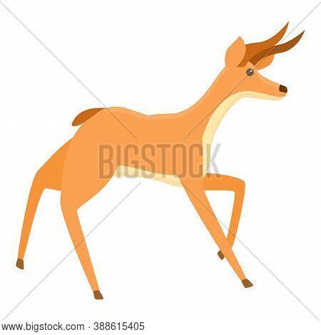 Scared Gazelle Icon. Cartoon Of Scared Gazelle Vector Icon For Web Design Isolated On White Backgrou