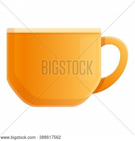 Coffee Tea Mug Icon. Cartoon Of Coffee Tea Mug Vector Icon For Web Design Isolated On White Backgrou