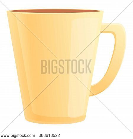 Vintage Mug Icon. Cartoon Of Vintage Mug Vector Icon For Web Design Isolated On White Background