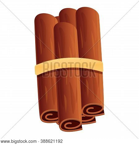 Cinnamon Sticks Pack Icon. Cartoon Of Cinnamon Sticks Pack Vector Icon For Web Design Isolated On Wh