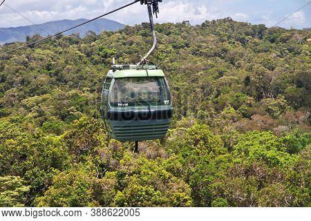 Kuranda, Australia - 05 Jan 2019: The Cable Way In Kuranda, Cairns, Australia