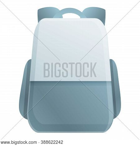 Laptop Backpack Icon. Cartoon Of Laptop Backpack Vector Icon For Web Design Isolated On White Backgr