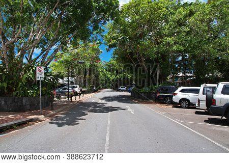 Kuranda, Australia - 05 Jan 2019: Road In Kuranda, Cairns, Australia