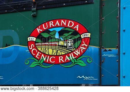 Kuranda, Australia - 05 Jan 2019: The Vintage Train In Kuranda, Cairns, Australia