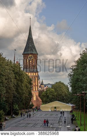 The City Of Kaliningrad, The Island Of Immanuel Kant, Konigsberg Cathedral - September 10, 2020. The