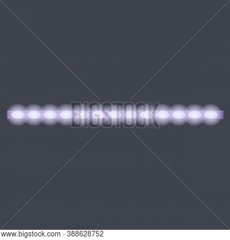 Led Strip Lights Module Icon. Cartoon Of Led Strip Lights Module Vector Icon For Web Design Isolated