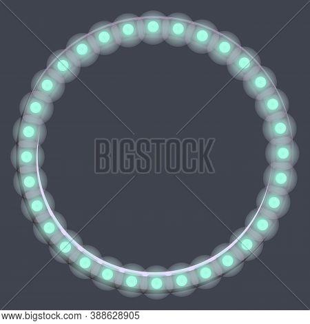 Led Strip Lights Circle Icon. Cartoon Of Led Strip Lights Circle Vector Icon For Web Design Isolated