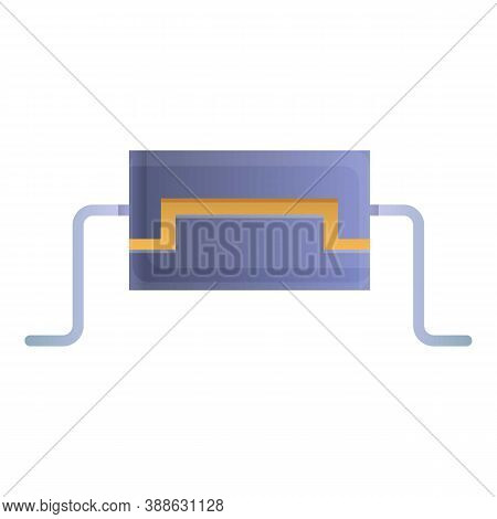 Business Capacitor Icon. Cartoon Of Business Capacitor Vector Icon For Web Design Isolated On White