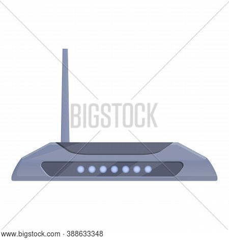 Wifi Router Modem Icon. Cartoon Of Wifi Router Modem Vector Icon For Web Design Isolated On White Ba