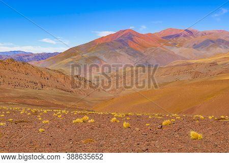 Arid Landscape Brava Lagoon Reserve La Rioja, Argentina