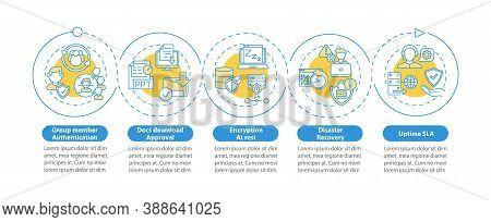 Telecommuting Tool Security Parameters Vector Infographic Template. Uptime Sla Presentation Design E