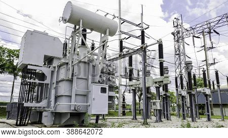 Gas Insulated Power Tranformer, High Voltage Electricity Power Sunstation For Iudtrial Production, P