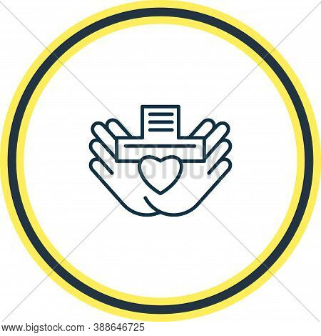 Vector Illustration Of Nonprofit Organization Icon Line. Beautiful Justice Element Also Can Be Used