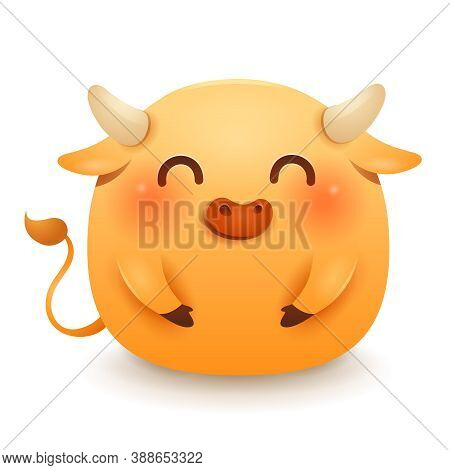 Cute Little Fat Ox. Chinese New Year. Year Of The Ox. Chinese Zodiac: Ox - The Symbol Of The Year 20