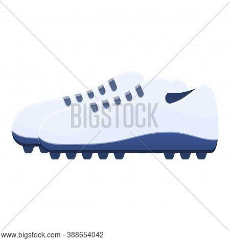 Spikes Football Boots Icon. Cartoon Of Spikes Football Boots Vector Icon For Web Design Isolated On