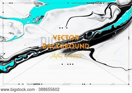 Fluid Art Texture. Background With Abstract Mixing Paint Effect. Liquid Acrylic Artwork With Flows A