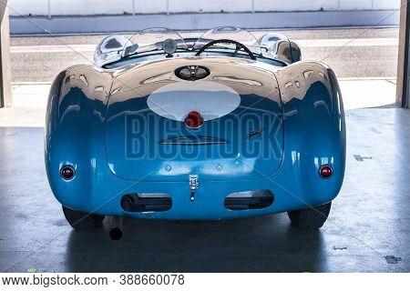 Most, Czech Republic - September 9 2020: Vintage Veteran Car Talbot Lago T26 Grand Sport Figoni Fast