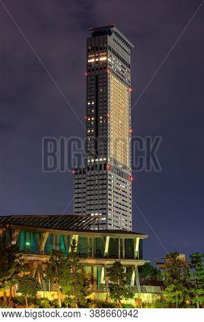 Osaka / Japan - October 5, 2017: Rinku Gate Tower Building Skyscraper, The Third Tallest Building In