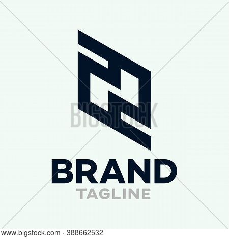 Modern Letters Zn Or Nz Logo.vector Illustration.