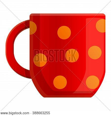 Autumn Party Tea Mug Icon. Cartoon Of Autumn Party Tea Mug Vector Icon For Web Design Isolated On Wh