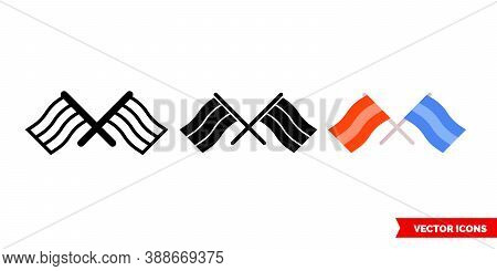 Diplomacy Icon Of 3 Types Color, Black And White, Outline. Isolated Vector Sign Symbol.