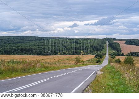 Landscape with the image of a country road
