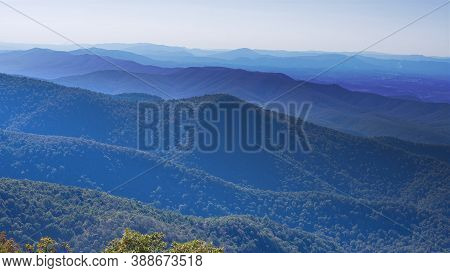 The Blue Ridge Mountains Appear Like Waves Of An Ocean That Goes On Forever.