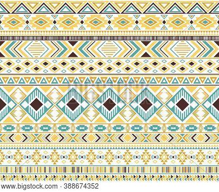 Gypsy Pattern Tribal Ethnic Motifs Geometric Vector Background. Chic Geometric Shapes Sprites Tribal