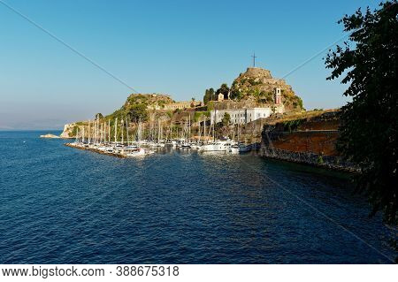 Old Venetian Fortress In Corfu Is A Venetian Fortress In The City Of Corfu During Byzantine Times. S