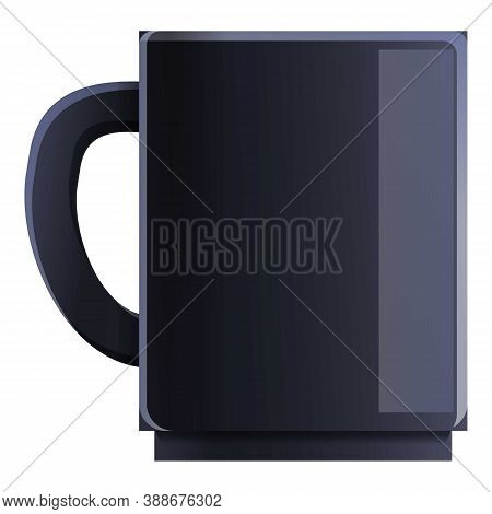 Ceramic Coffee Mug Icon. Cartoon Of Ceramic Coffee Mug Vector Icon For Web Design Isolated On White