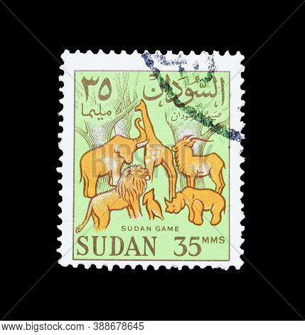 Sudan - Circa 1962 : Cancelled Postage Stamp Printed By Sudan, That Shows Wild Animals - Sudan Game,