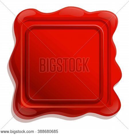 Secret Wax Seal Icon. Cartoon Of Secret Wax Seal Vector Icon For Web Design Isolated On White Backgr